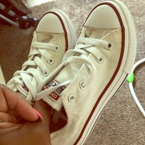 Other - Kids white converse size 13